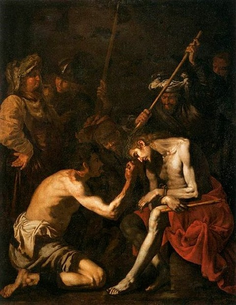 17th unknown painters - Mocking of Christ