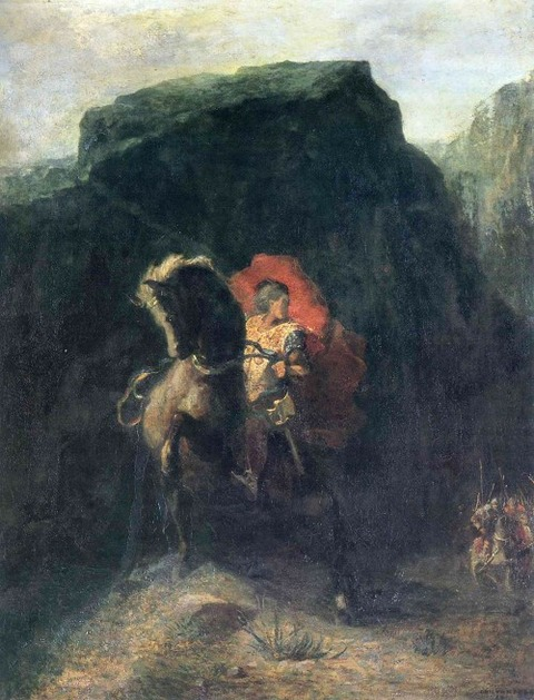 Roland at Roncesvalles, 1869 - Odilon Redon