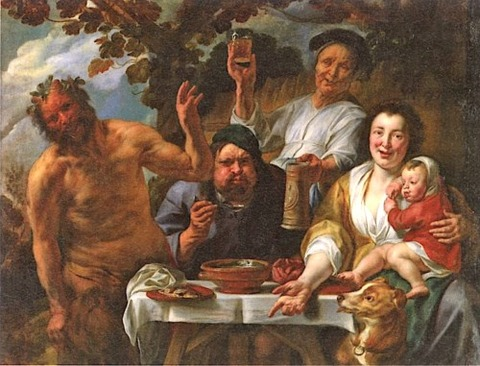 Jacob Jordaens, the peasant meal variant  17th