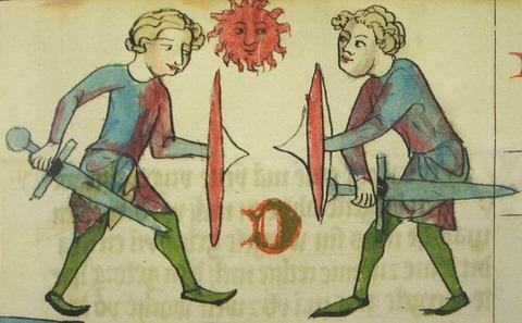 Gerichtlicher Zweikampf 1295-1363