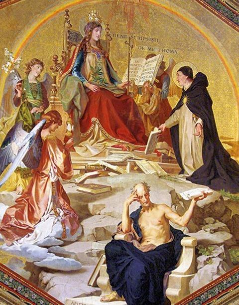 Thomas Aquinas and Aristotle 1883-87 Ludwig Seitz