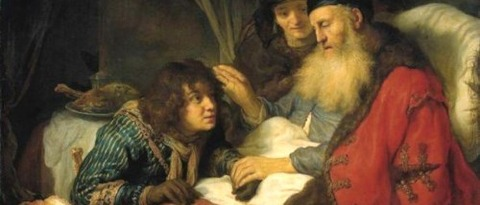 Rebecca   Isaac Blessing Jacob  Govert Flinck - コピー