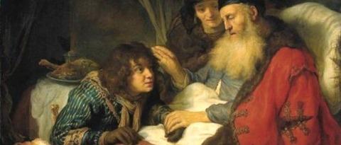 Rebecca   Isaac Blessing Jacob  Govert Flinck - コピー