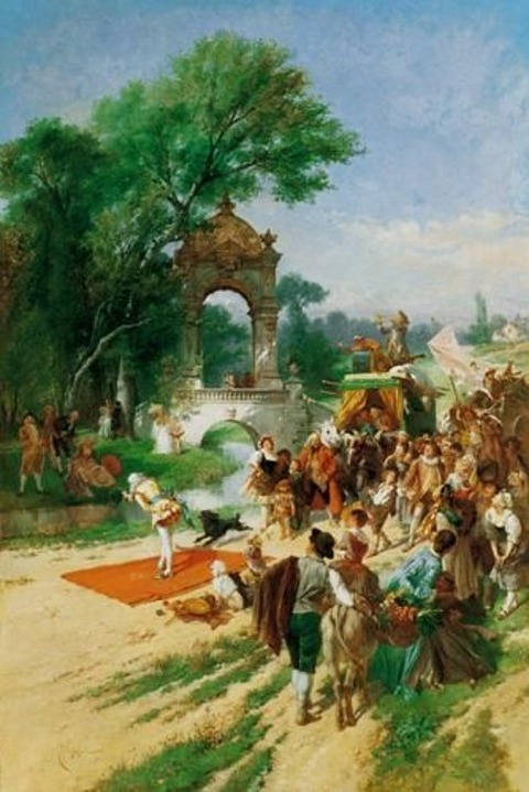 A Travelling Circus by Emile Antoine Bayard