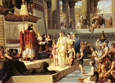 Solomon and the Queen of Sheba Giovanni Demin (1789-1859)