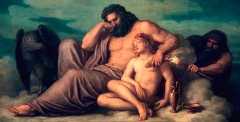 Zeus, Ganymedes, Prometheus  Christian Griepenkerl 1878