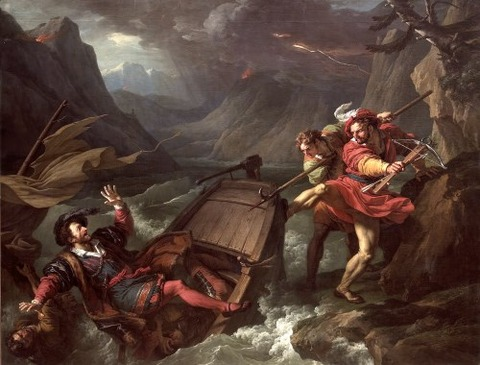 1795 William Tell Capsizing the Boat of Gessler