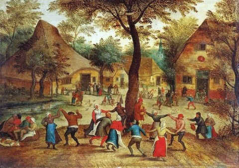 Pieter-Bruegel-The-Younger-Village-Scene-with-Dance