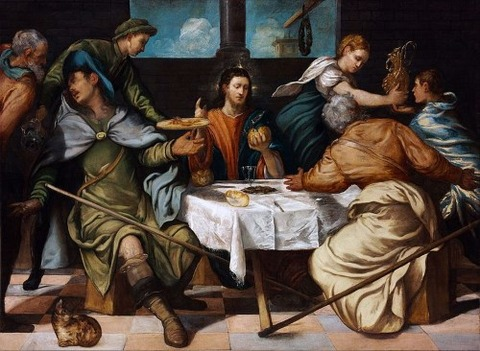 Jacopo Tintoretto - The Supper at Emmaus