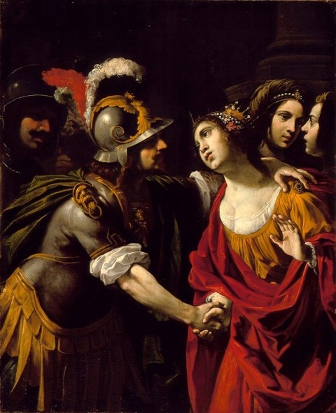 Dido and Aeneas, by Rutilio Manetti (c. 1630)