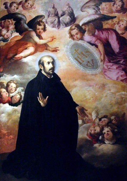 Glorification of Loyola, Francisco Herrera el Viejo 1622