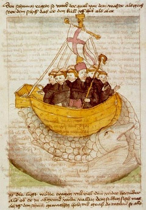 St. Brendan atop Jasconius 1460