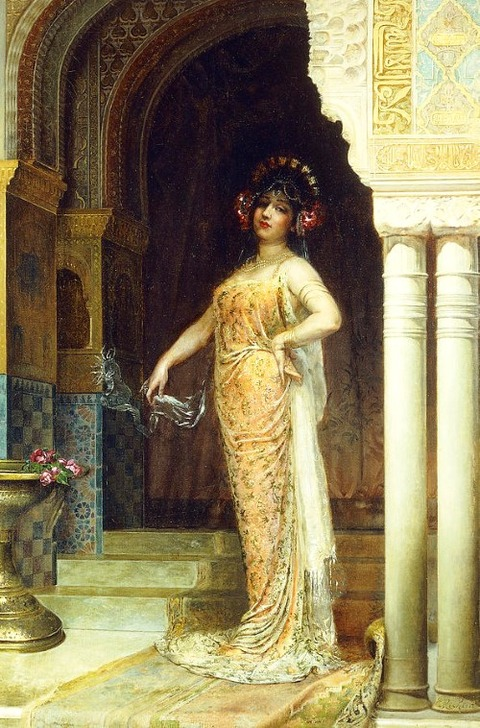 The Odalisque by Edouard Frederic Wilhelm Richter
