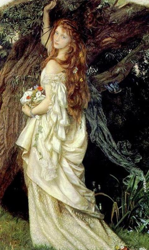Ophelia di Arthur Hughes, 1863
