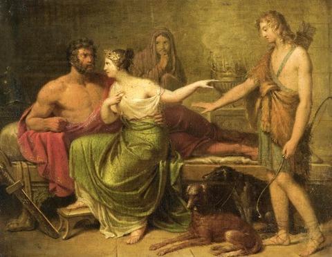 German school Hippolytus, Phaedra and Theseus