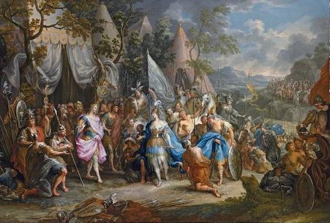 Thalestris, Amazons Alexander Johann Georg Platzer