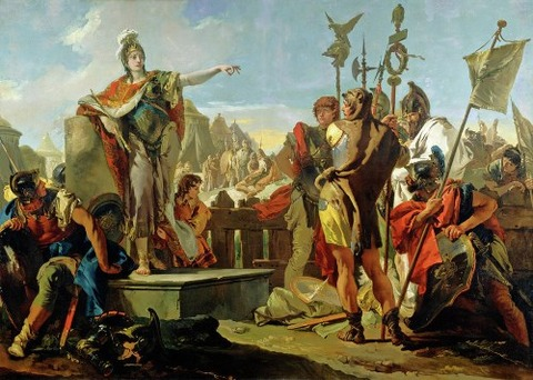 Giovanni Battista Tiepolo Zenobia Addressing Her Soldiers