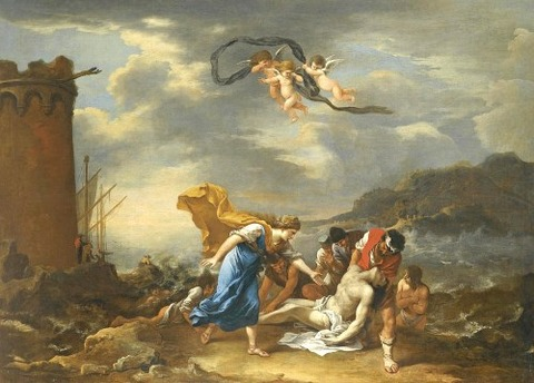 Hero And Leander by Salvator Rosa