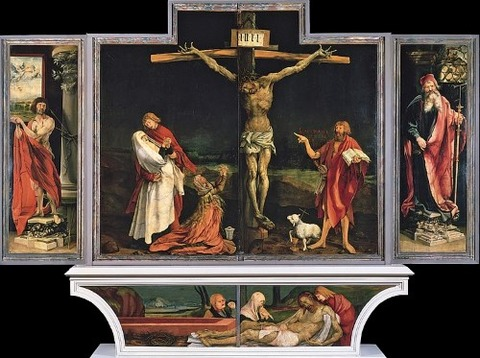 Isenheim altarpiece - First view