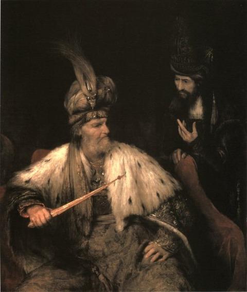 Arent de Gelder  1682- ahasuerus and haman