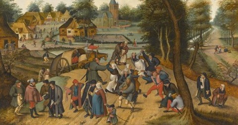 The Return from the Kermesse _Pieter_Brueghelil_studio
