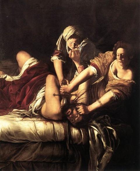 GENTILESCHI-Judith-Slaying-Holofernes-