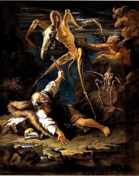 The temptation of Saint Anthony, Salvator Rosa, 1645