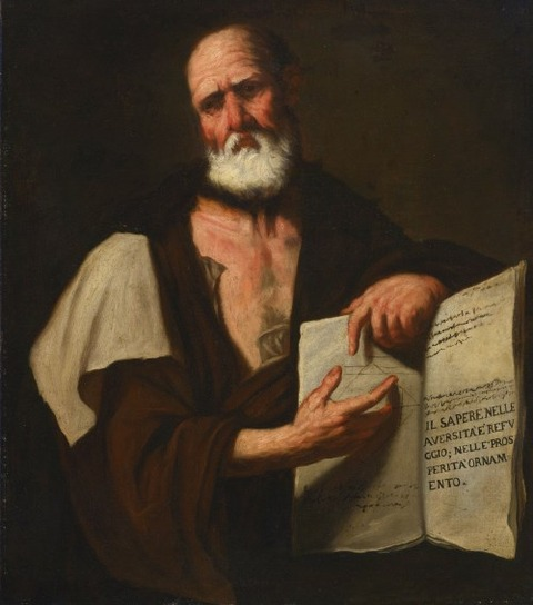 Aristotle, 1653 - Luca Giordano