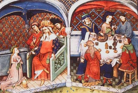 The Decameron, Flanders, 1432. Paris noble meal