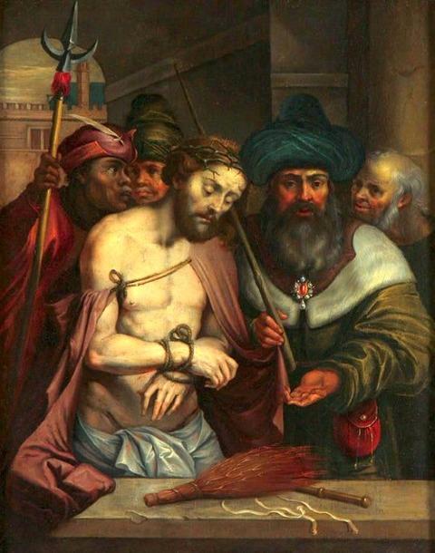 To Hans Rottenhammer I (German 1564-1625) The Mocking of Christ