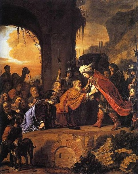 Salomon de Bray Joseph Receives Father Brothers  Egypt 1655