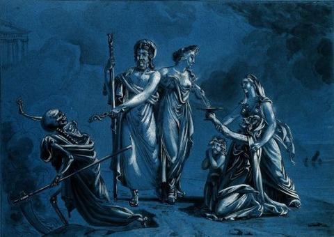 Jacques-Charles Bordier  Bignon Aesculapius Routing Death 1822