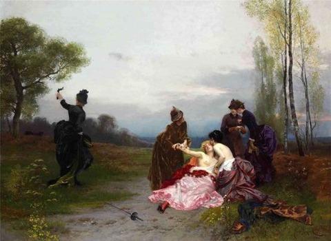 Emile Antoine Bayard The Reconciliation 1884