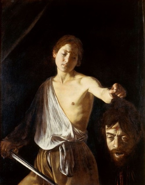 David with Head of Goliath Caravaggio 1609