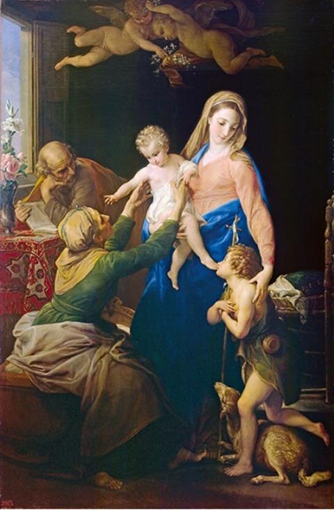 ポンペオ・ジローラモ・バトーニ《聖家族》