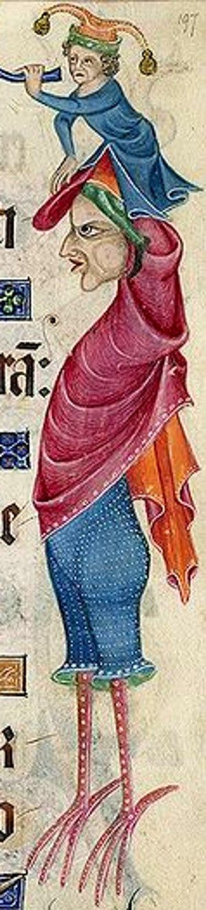 margins of the Luttrell Psalter 1325-35