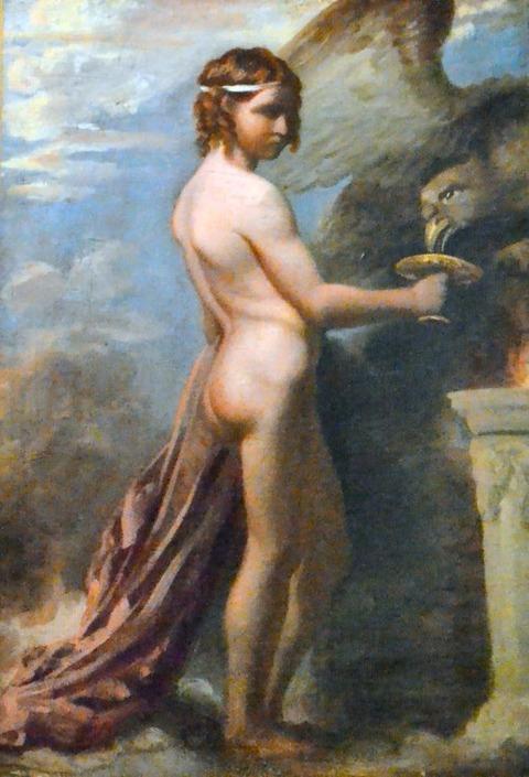 Richard Evans  Ganymede feeding the eagle 1822