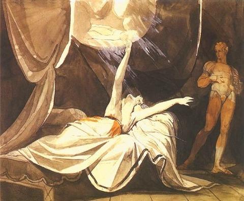 Füssli Johann Heinrich - Kriemhilde voit Siegfried mort en rêve