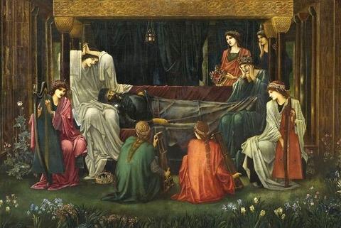 アヴァロンでの眠りエドワード・バーン=ジョーンズ 1881-98