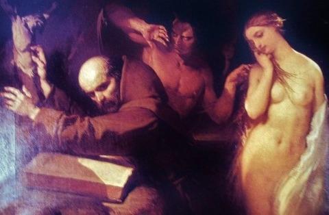 Louis Gallait - The Temptation of Saint Anthony