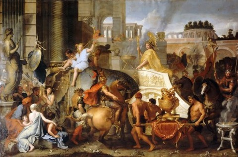 Charles Le Brun - Entry of Alexander into Babylon  1665