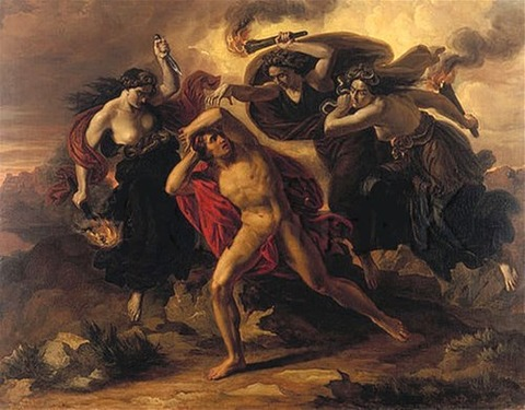 Carl Rahl  Orestes Pursued by the Furies  1852