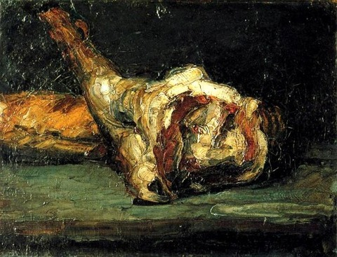 Still Life Bread and Leg of Lamb, 1866 by Paul Cezanne