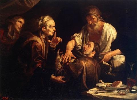 Gioachino Assereto - Isaac Blessing Jacob 1640