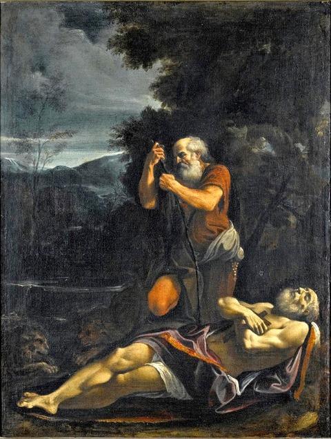 st anthony abbot buryingsaint paul the hermit lorenzo garbieri