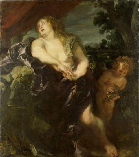 Penitent Mary Magdalene  Anthony van Dyck  1620-35