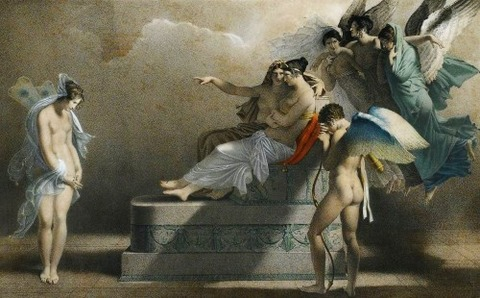 Psyche and the Tribunal of Venus - 19th the French School