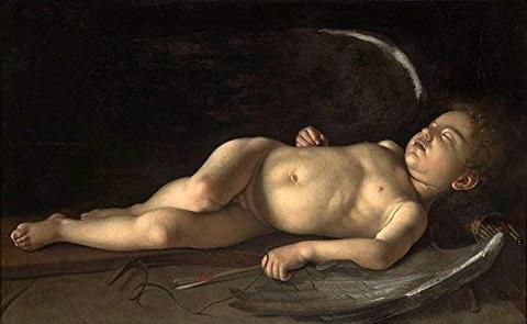 Sleeping Cupid-Caravaggio 1608