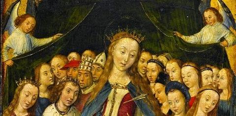 St Ursula Virgins The Master of the Legend of Saint Barbara -