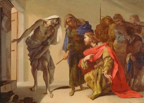 Samuel Invoked by Saul Bernardo Cavallino 1650-56